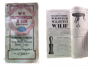 W. H. Hutchinson & Son Bottlers' Supply Catalog dated 1920