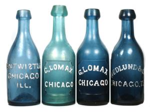 Grouping of Iron-Pontil Base Sodas: Joseph Entwistle, George Lomax  and John Hedlund & Co.
