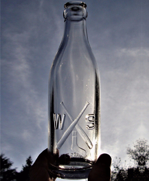Chicago White Sox (WS) soda bottle, bottled at Comisky Park
