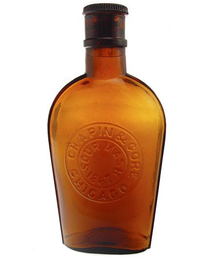 Chapin & Gore, Sour Mash 1867 flask