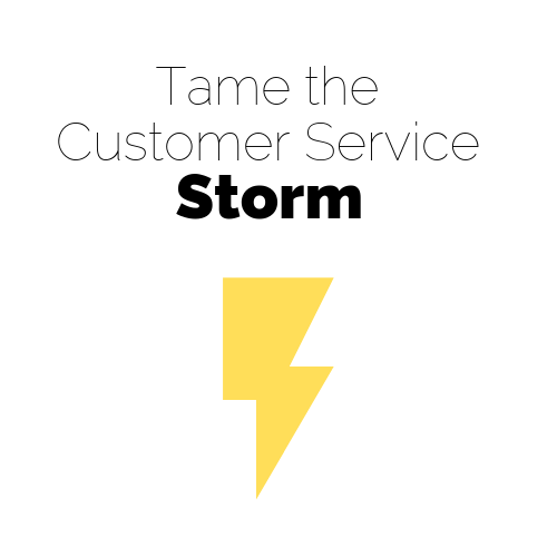 Tame the customer service storm