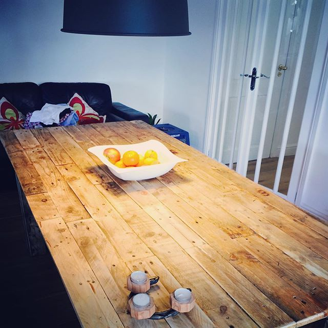 #homemade table #pallets