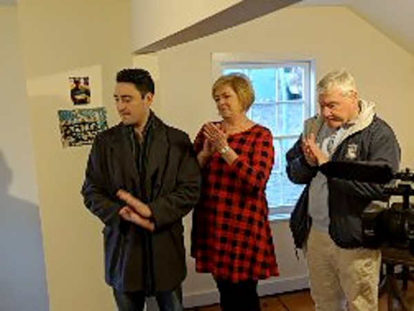 Sean, Mary and Al Faella at the dedication of the Levi Cory House Sports & Scout Room in Memory of Ryan Patrick Faella.