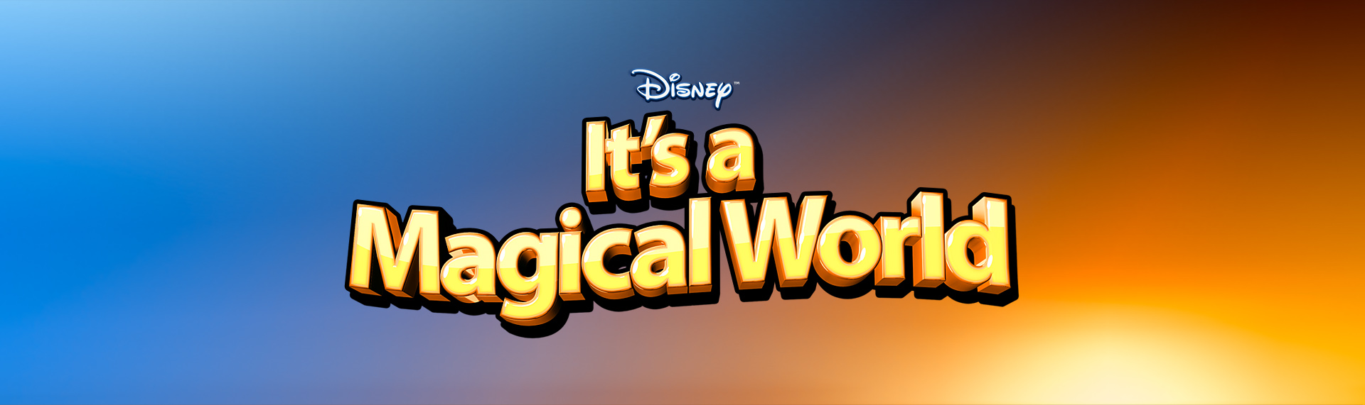 Disney's It's a Magical World  Brand Identity Design, Product Name Creation  A brand identity we created for our Hyperdesk Windows desktop theme - the official Disney's It's a Magical World. As an official licensee (and long time vendor) of The Walt Disney Company, we brought the same dynamics to the style of the logo as we delivered to the desktop themes. The results are a logo that exemplifies the Disney brand - fun, bold and definitely magical.