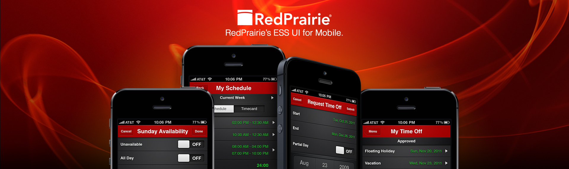 RedPrairie   Browser + Mobile Web Applications UX & UI Design  Enterprise software giant, RedPrairie, contracted The Skins Factory to design the user interface & interaction design for multiple applications resulting in perfect symmetry between their enterprise software application user interfaces. This included 3 desktop browser interfaces, a mobile browser app & a native Android app. We also created a custom GUI kit for the RedPrairie developers.