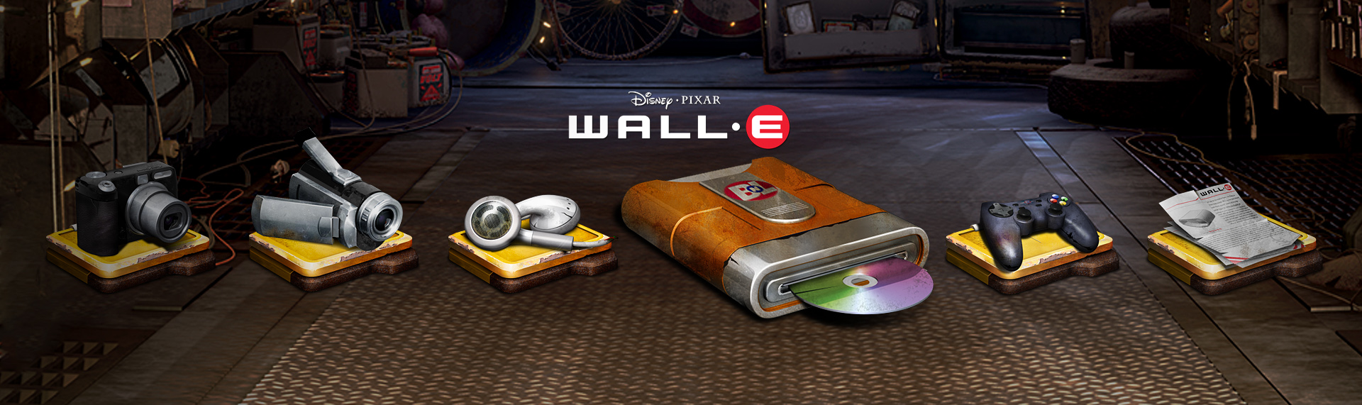 Disney Pixar's WALL-E Windows Desktop Icon Set  Client: Under License from The Walt Disney Company  Introducing the official, Pixar-approved WALL-E Windows desktop icon set powered by Hyperdesk. Featuring well over 50+ icons, the set's main folder icons were designed to mimic WALL-E's weather-beaten metal. The rest of the set, was designed to appear as if they were pulled from a long, forgotten world. This creates a complete symmetry between the lovable character and his Windows XP desktop theme and icon set. Disney and Pixar-approved.