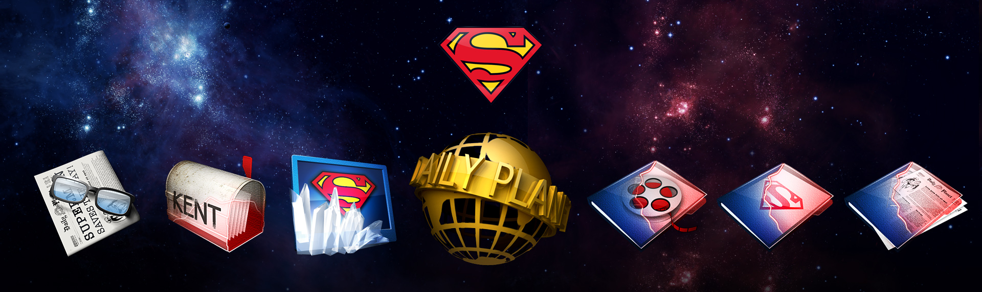"Alienware: Superman Special Edition Windows Desktop Icon Set  Client: Alienware Corporation  Alienware released limited-edition desktop & notebook systems inspired by DC Comics iconic Super Hero, Superman. The Skins Factory designed the immersive desktop theme of the famous ""Man of Steel"", that featured a Windows XP theme, icons, custom wallpaper and Windows Media Player skin. We created imagery that keeps with the Superman mythos - from the walk-in telephone booth to kryptonite. SUPERMAN and all related characters and elements are trademarks of and DC Comics. (s06). Theme is no longer available."