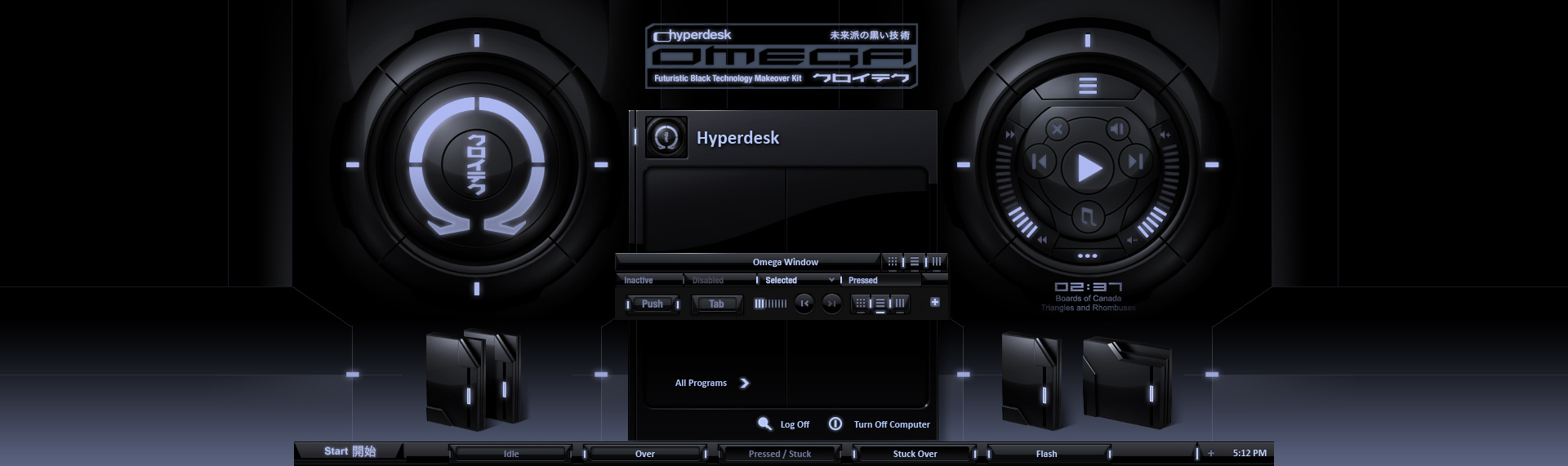 Omega  | Hyperdesk Windows Theming Kit © Copyright. William Bart. All Rights Reserved