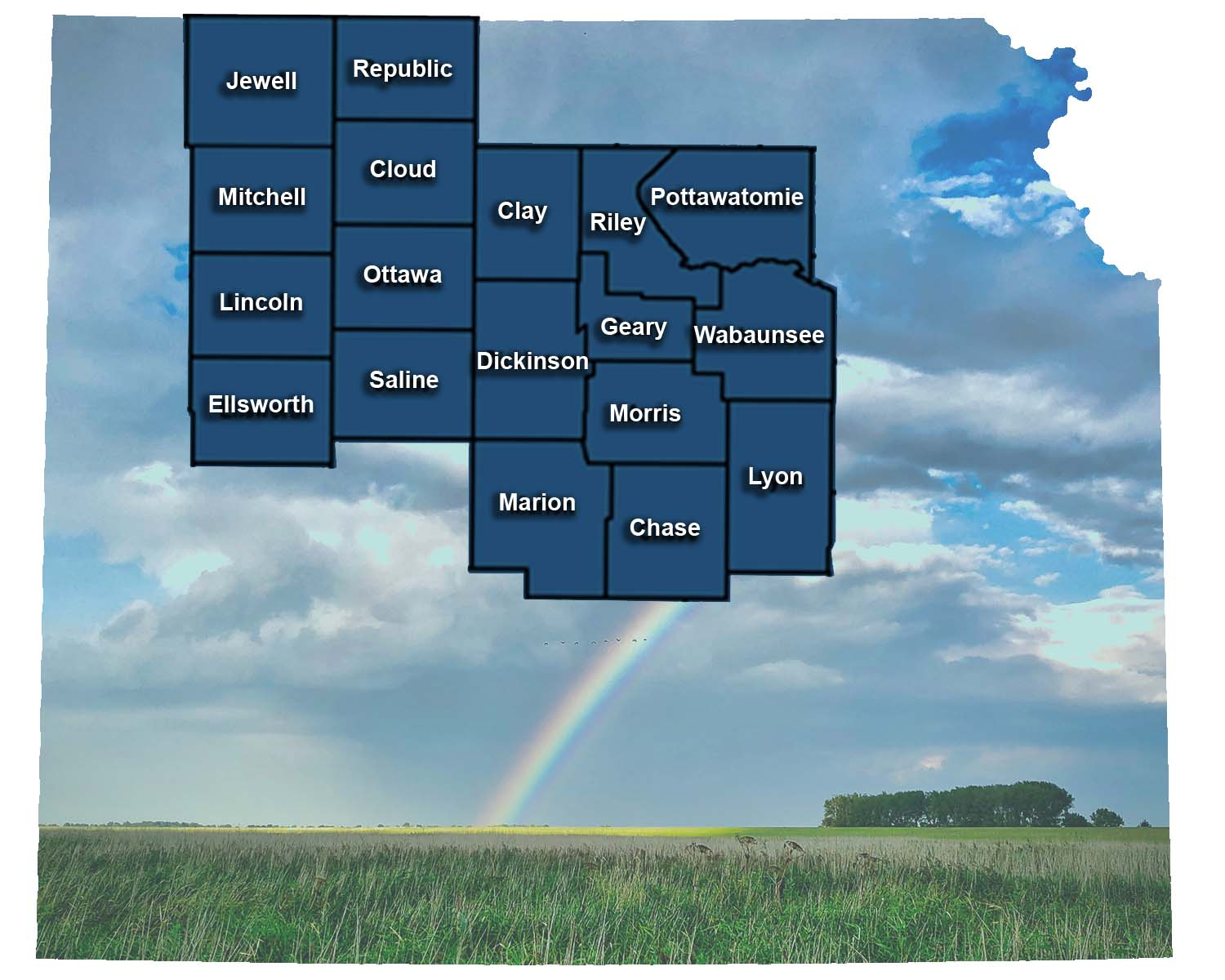 Proudly Serving: - Chase, Clay, Cloud, Dickenson, EllsworthGeary, Jewell, Lincoln, Lyon, Marion, MitchellMorris, Ottawa, Pottawatomie, RepublicRiley, Saline and Wabunsee countiesFind the services available in your county!