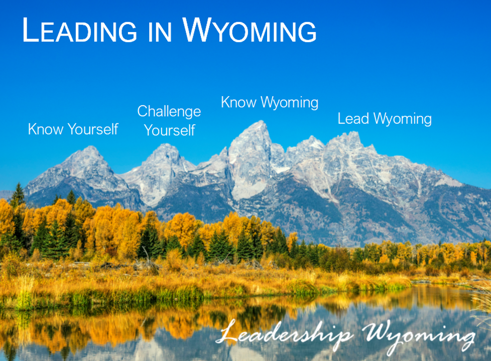 Leading in Wyoming is a custom-built curriculum designed to help leaders grow their leadership tools and perspective to be more effective leaders for Wyoming. The curriculum is continuously updated to provide the most relevant training and experiences for each class.