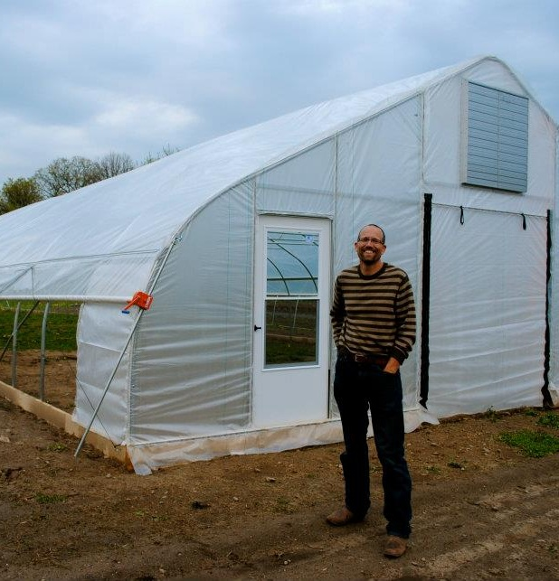 """- """" I believe we can create a better future together by supporting the farms that produce healthy, sustainable, local food. At Nifty Hoops, we innovate ways to make growing food more profitable, and more fun, year round. Let us know how we can help."""