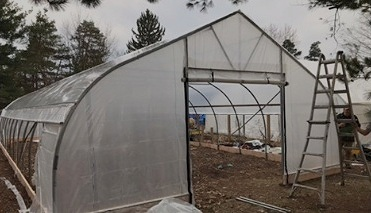 22.5' Gothic Hoophouses - A leaner, tighter package than the 30' Gothic, our 22.5' wide structure brings all the strength and durability of our wider hoophouse with a shorter list of standard features to fit your budget.