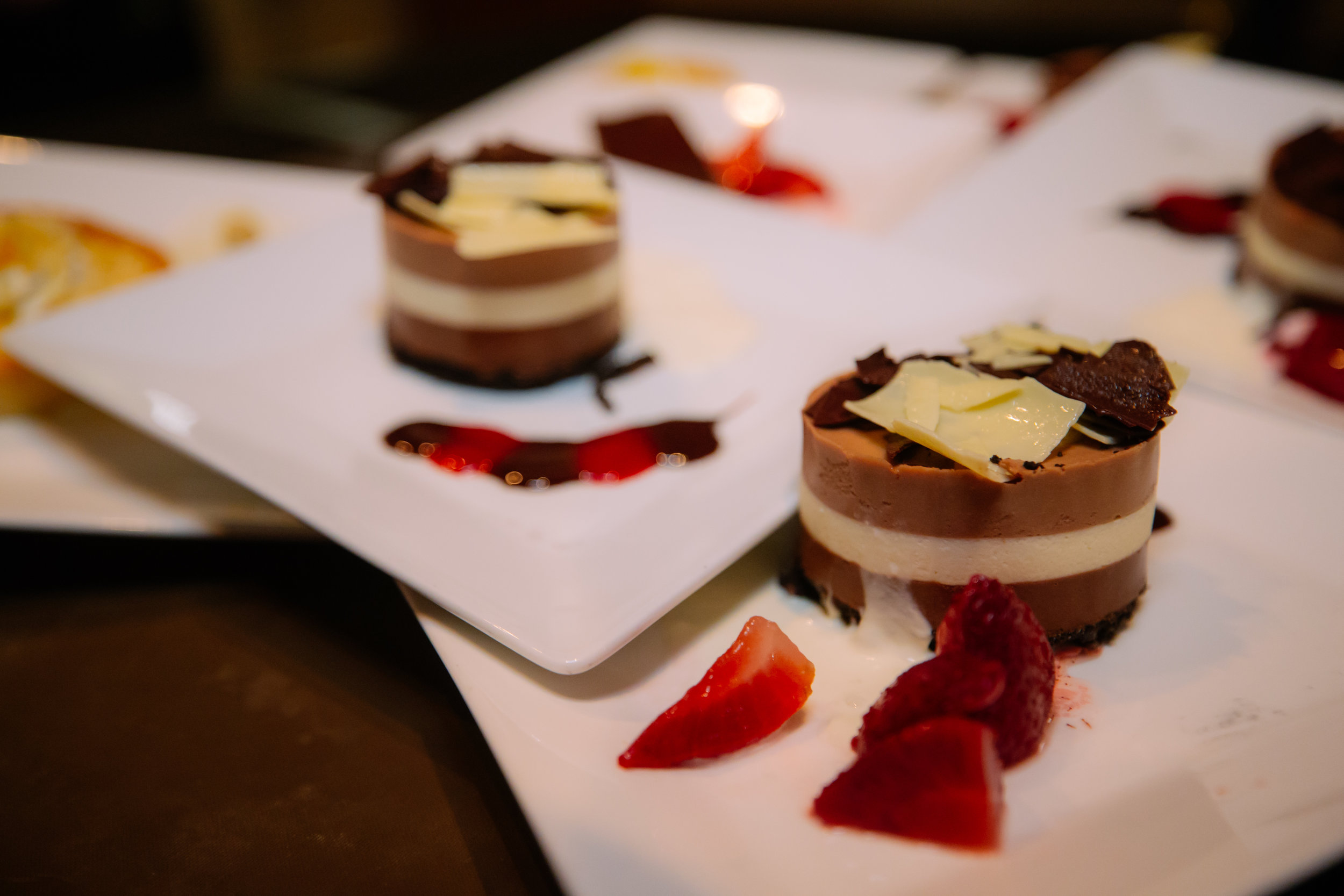 Copy of Plated chocolate dessert with berries