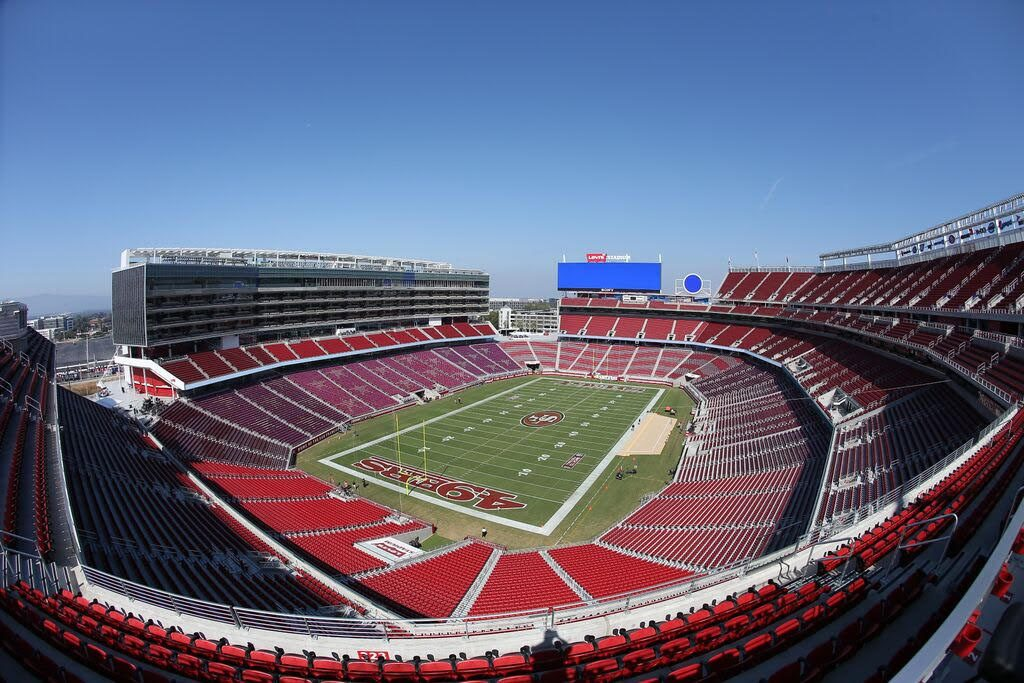 Levi's Stadium view of entire field from the top.