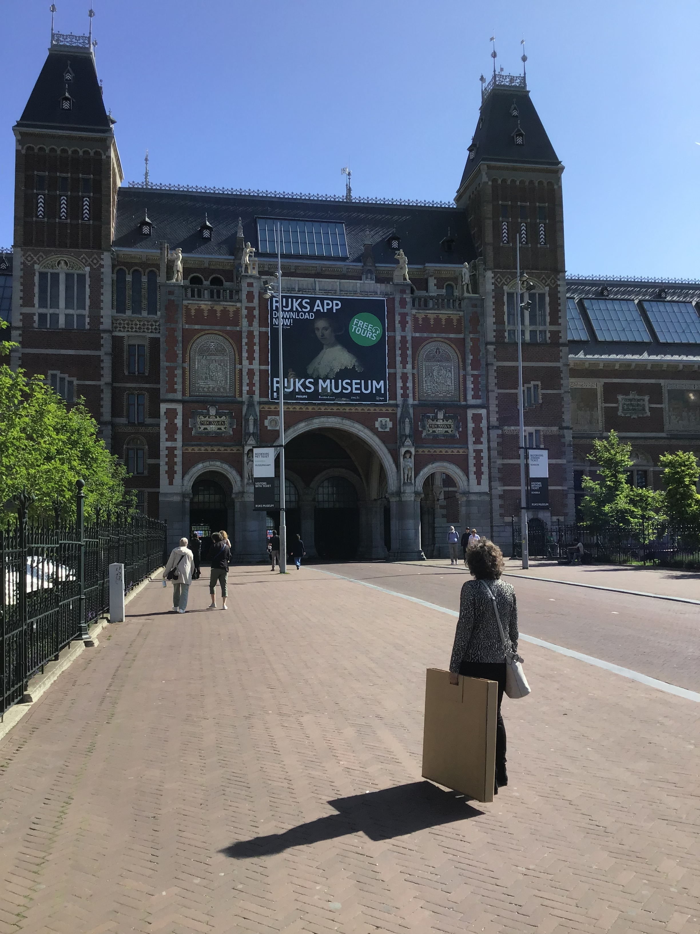 Op weg naar het Rijksmuseum