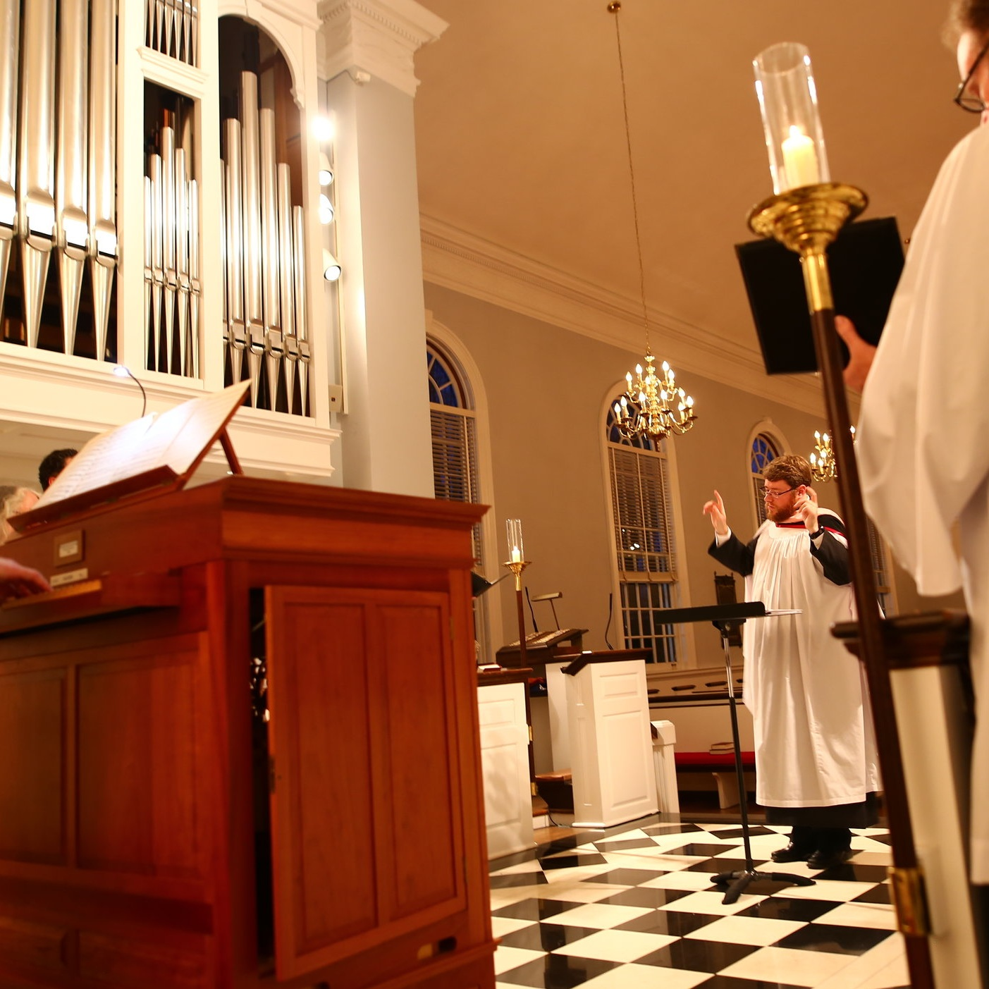 At a service of Choral Evensong at St. Peter's Episcopal Church, St. Louis, 2017.