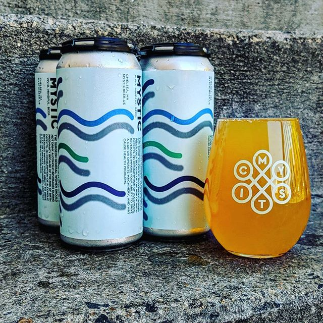 Fresh batch of Wave Break today as well! Just canned this morning, this staff favorite may have included some pressuring our owner to let us do this one more time.  This crisp recipe is our classic Table Beer  dry hopped with Perle and Santiam. $13 per 4 pack, no limits per person. It will be available on draft in the coming days.  #mysticbrewery #wavebreak #bostoncraftbeer #craftbeer #saison