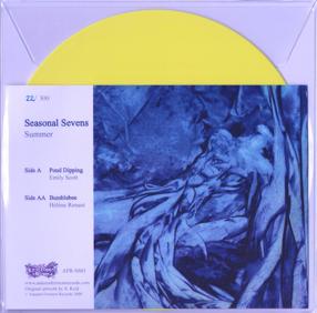 "Seasonal Sevens - 2009Autumn Ferment RecordsLimited Edition Coloured Vinyl 7""Side A - Pond Dipping - Emily ScottSide AA - Bumblebee - Hélène Renaut"