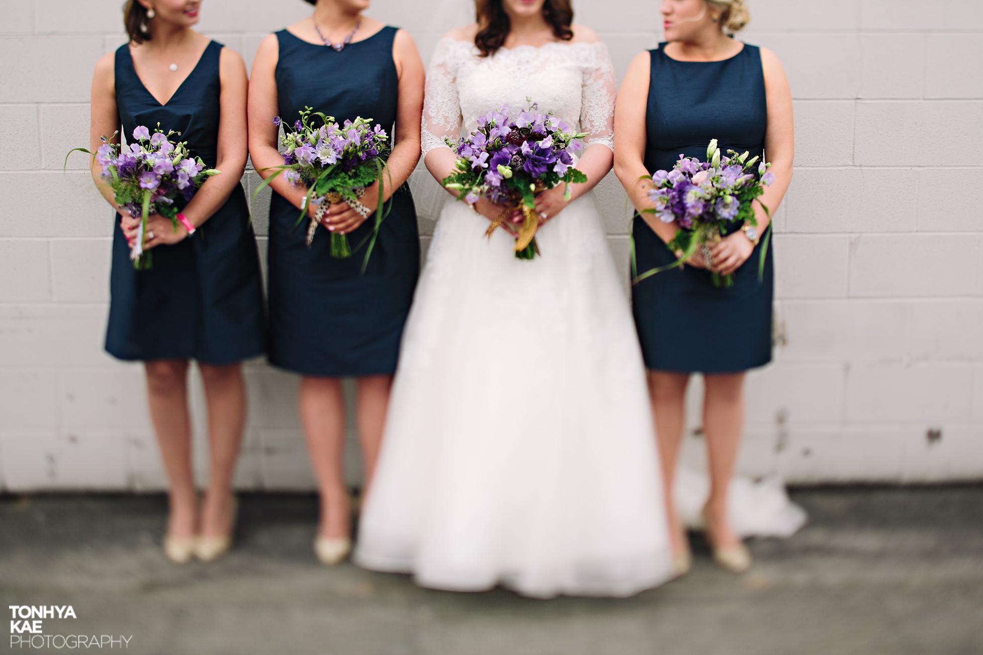 Lavender and Purple Bridesmaids Bouquets