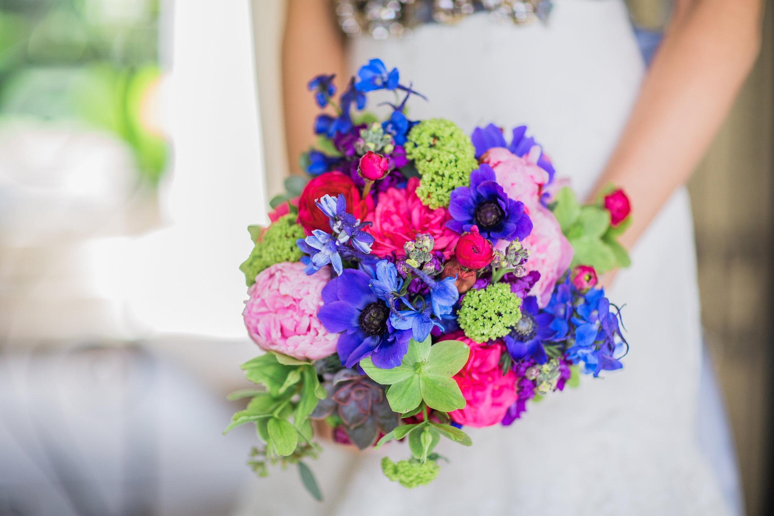 Bridal Bouquet in Jewel Tones