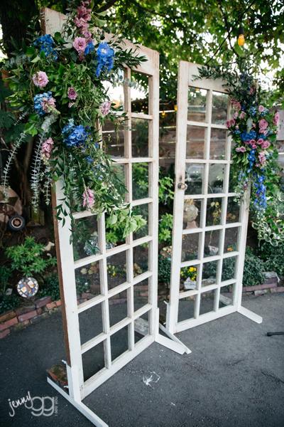 Flower Sprays on Antique Doors
