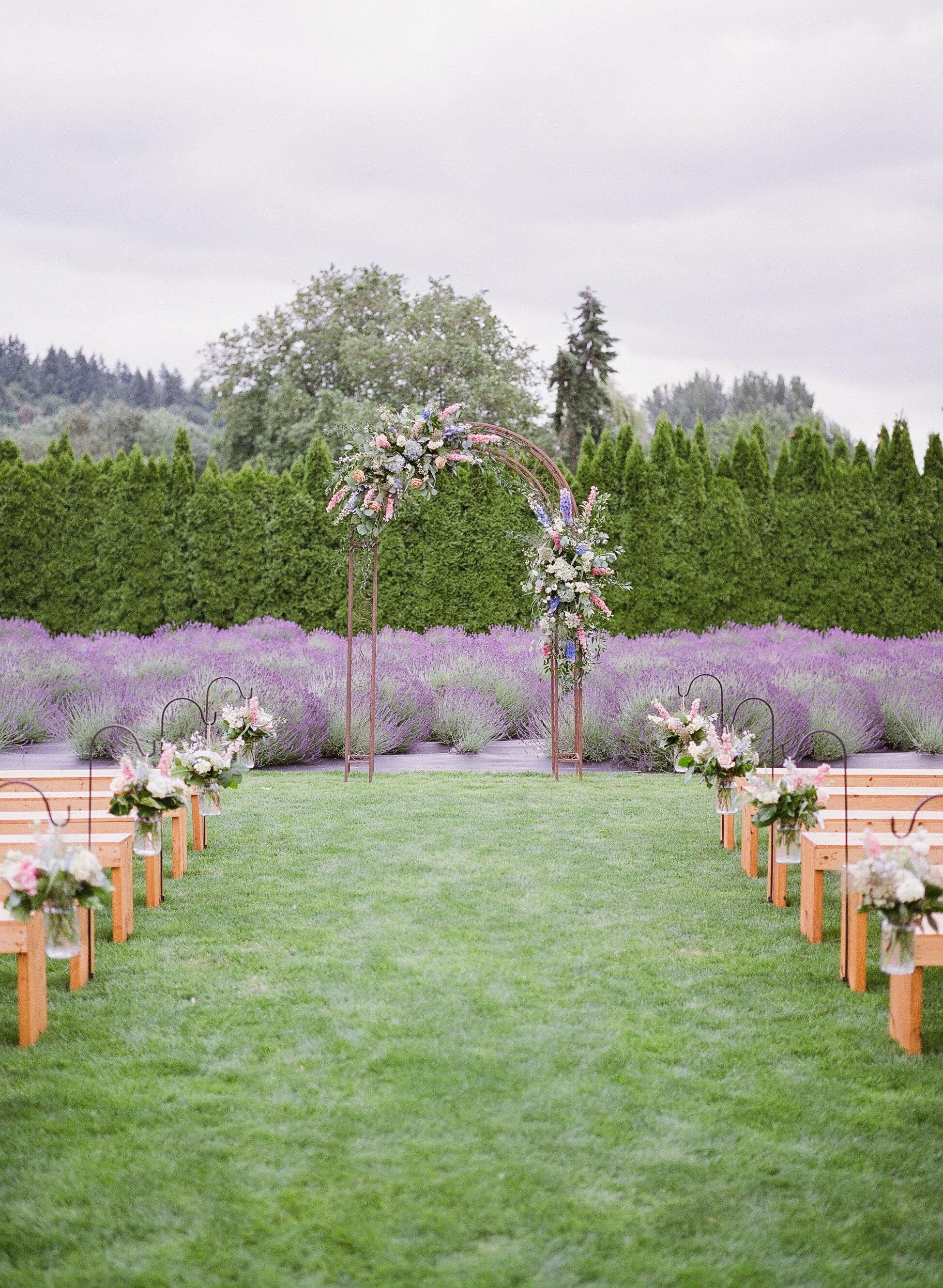 Woodinville Lavendar Wedding Ceremony