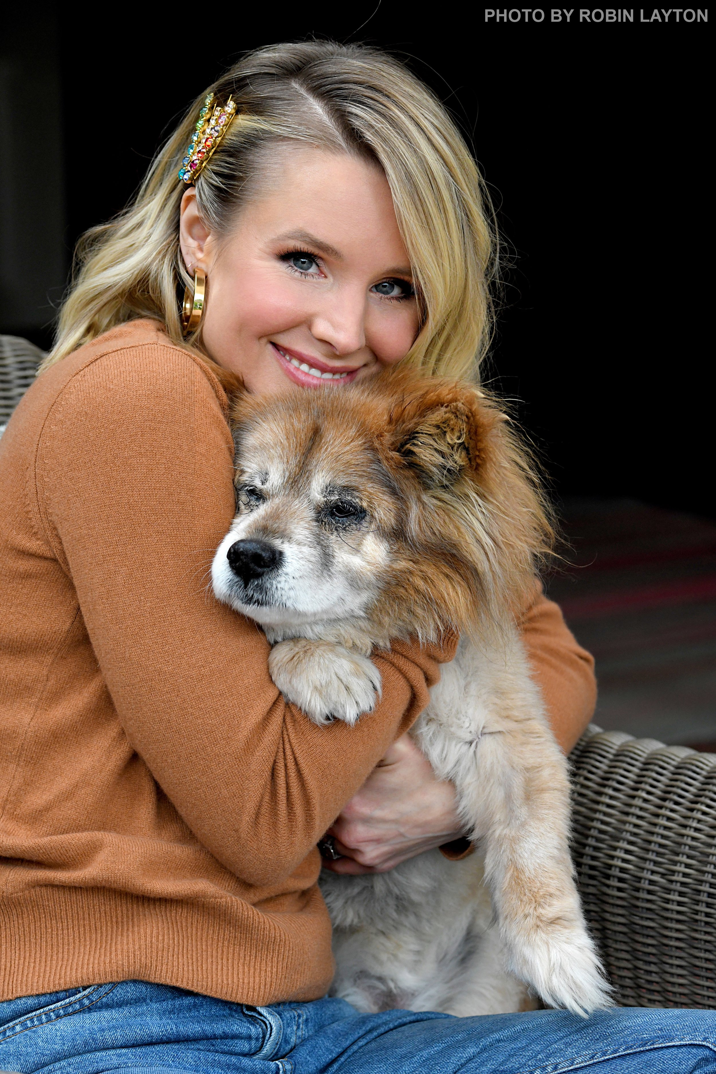 Kristen Bell and Lola for A Letter To My Dog.jpg
