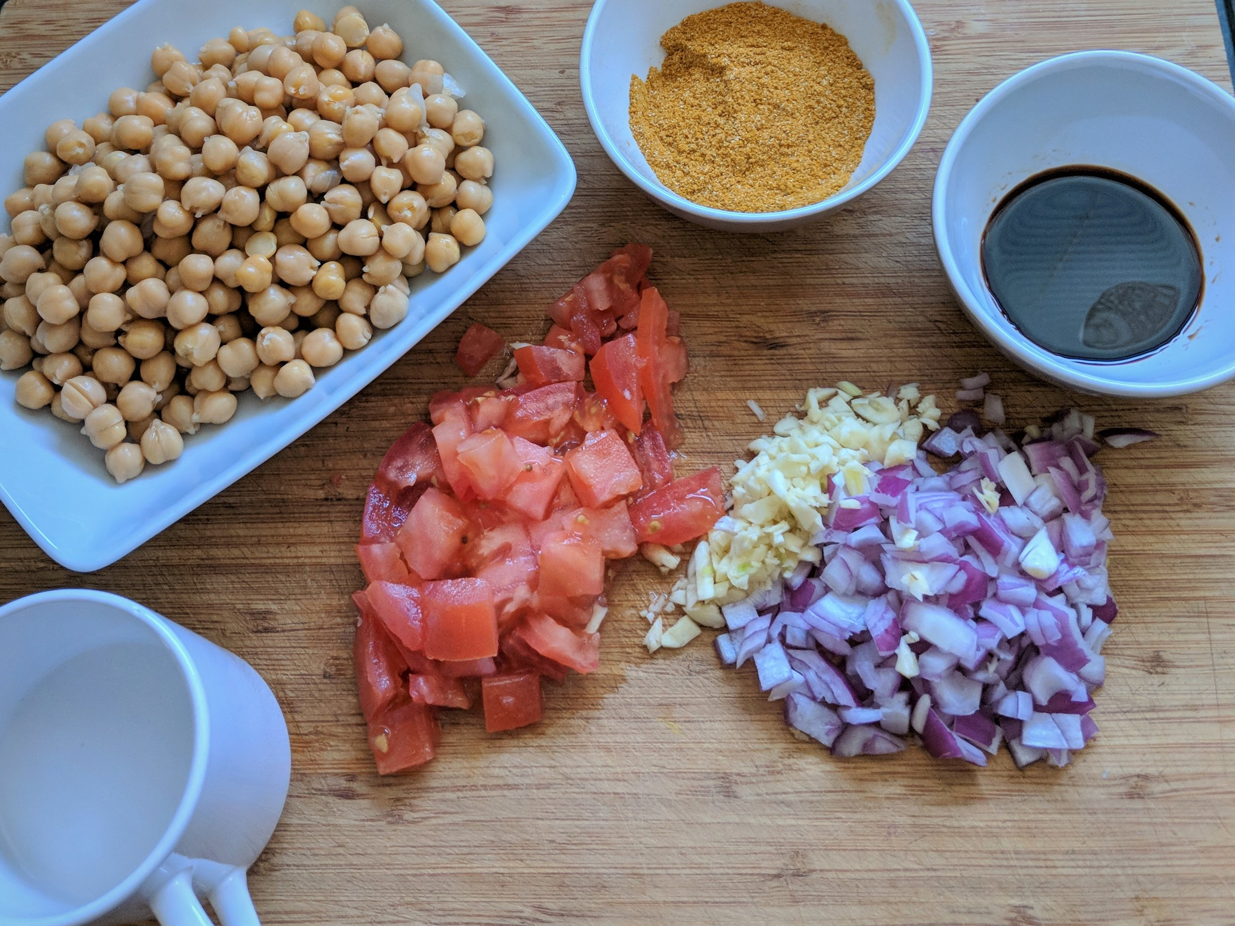 curry chickpeas ingredients