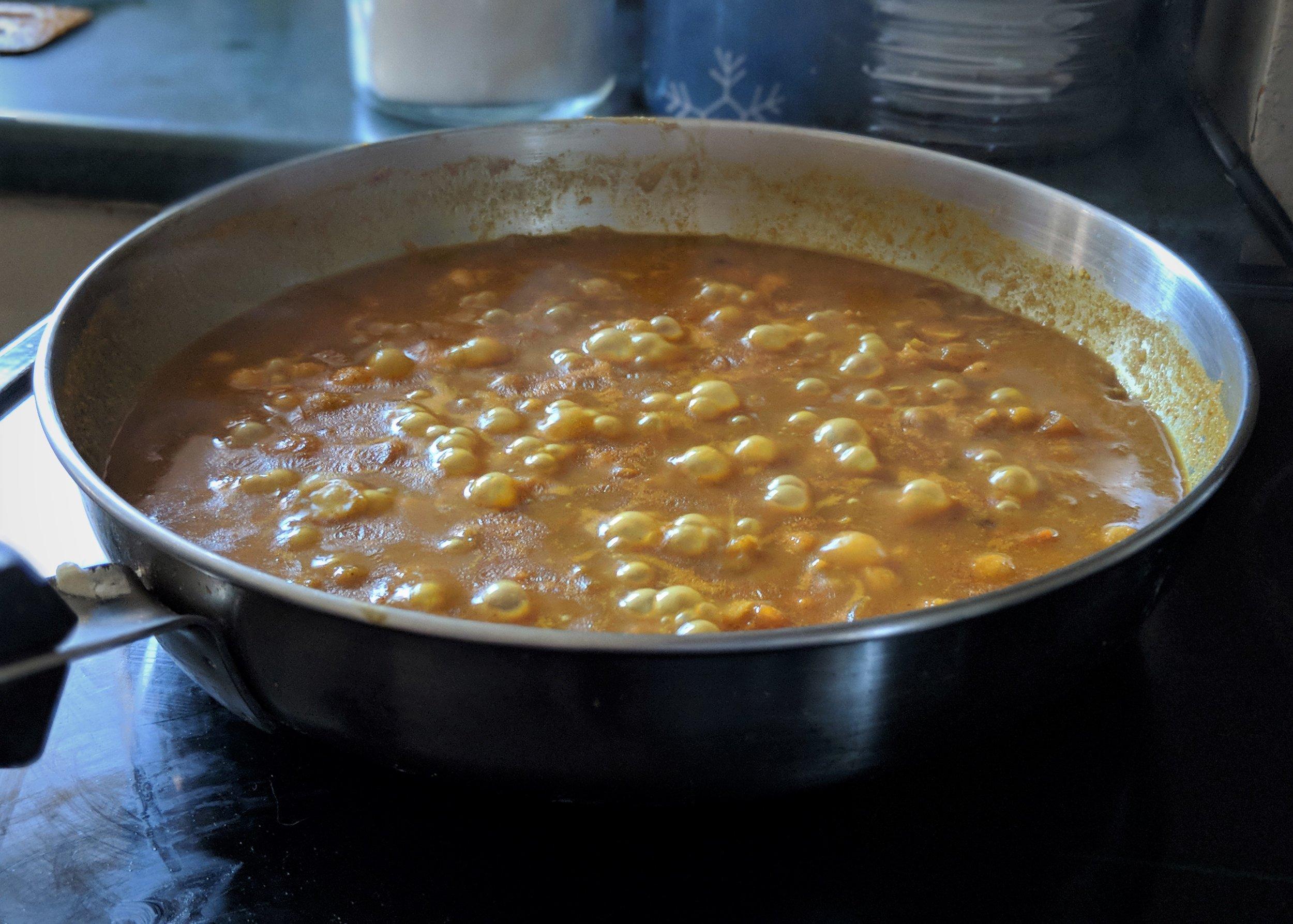 curried chickpeas chana recipe