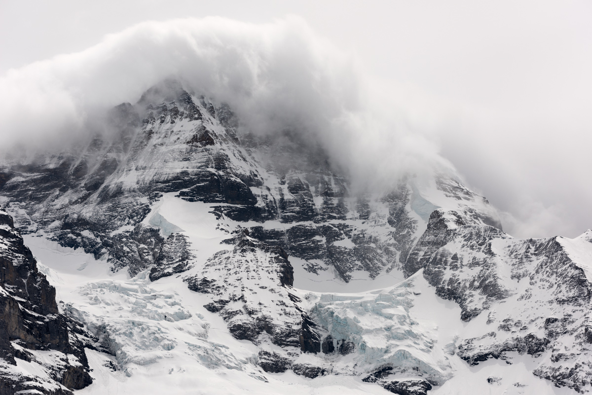 Stormy day on the Mönch, a 4107m high peak in the Jungfrau region of the Swiss Alps. Image © Colin Henderson Photography. Permission required before use. To license this image, please contact me quoting the file reference, size required and your planned end usage.