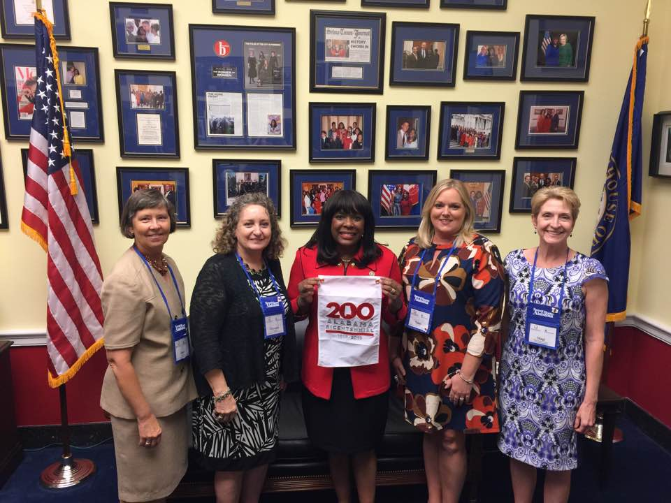Southeast Tourism Society members with congressional representative in Washington, DC