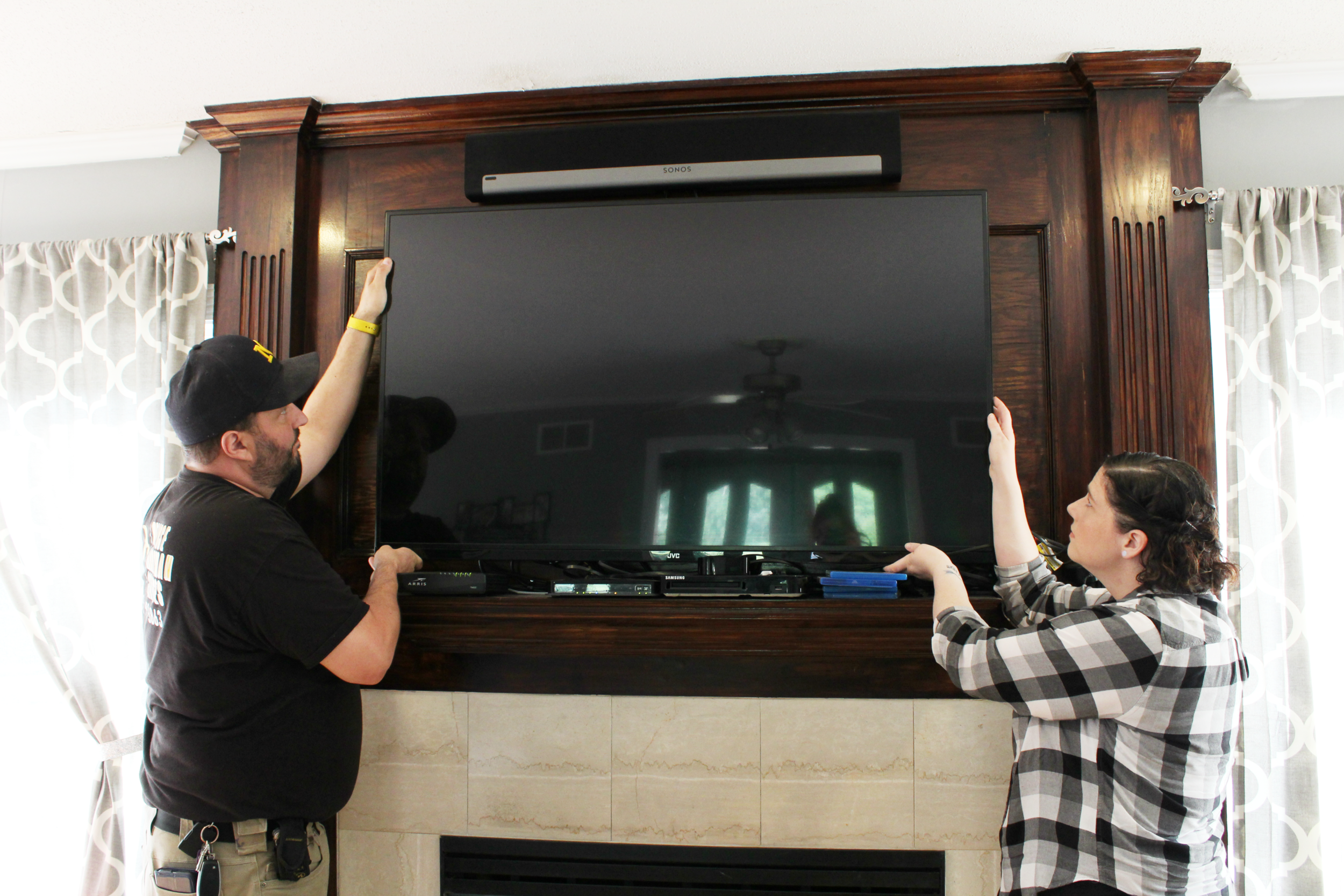 TV mounting on walls or brick
