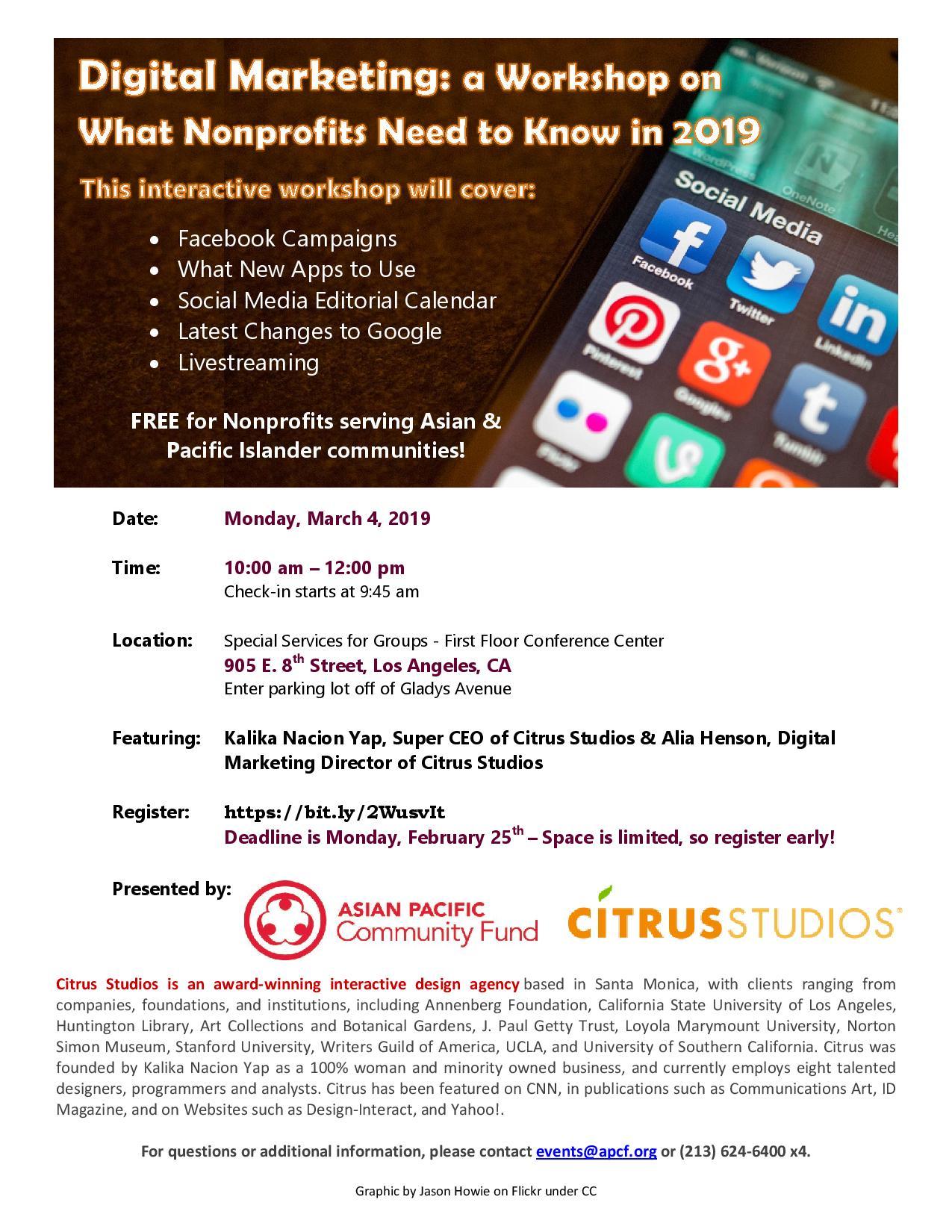 2019 Social Media 101 Workshop Flier 03.01.19.jpg