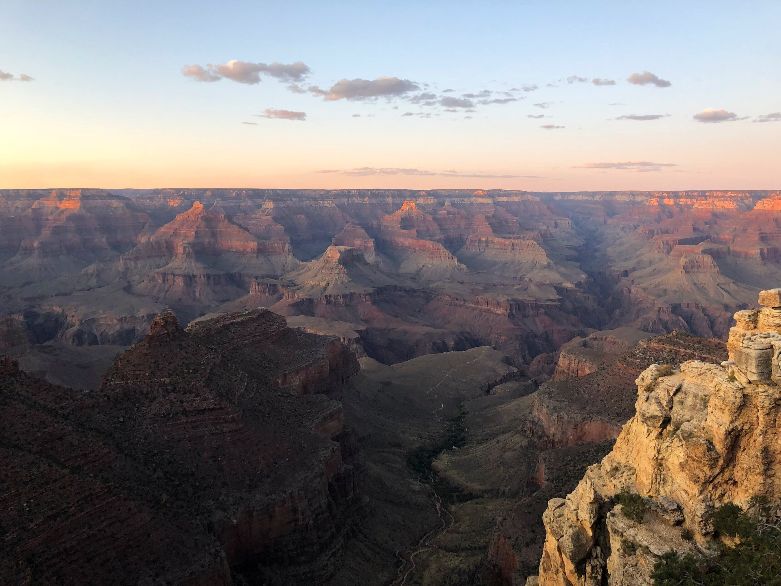 Grand Canyon National Park sunset South Rim Arizona