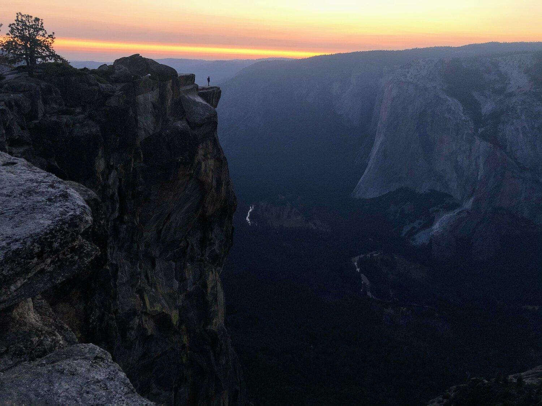 Taft Point at sunset, Yosemite National Park, California. Photo: Greg Iacurci