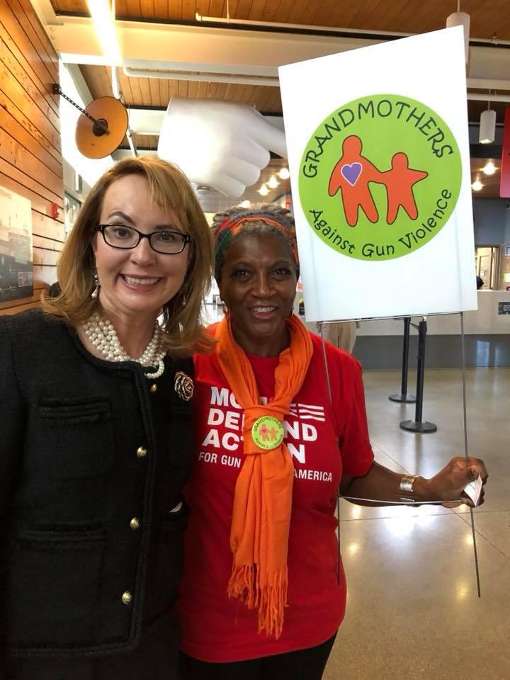 GAGV member Beverly Fletcher with former congresswoman and gun violence prevention activist Gabby Giffords