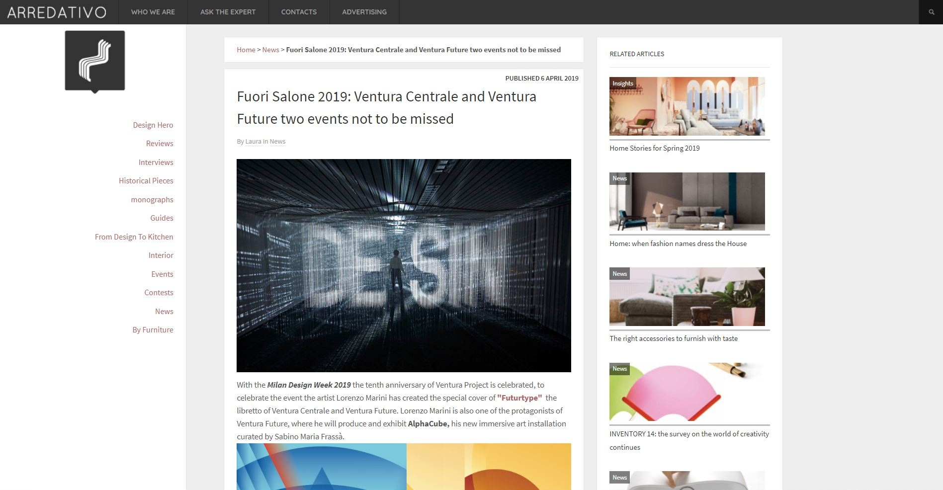 Fuori Salone 2019: Ventura Centrale and Ventura Future two events not to be missed - April 2019, arredativo.it