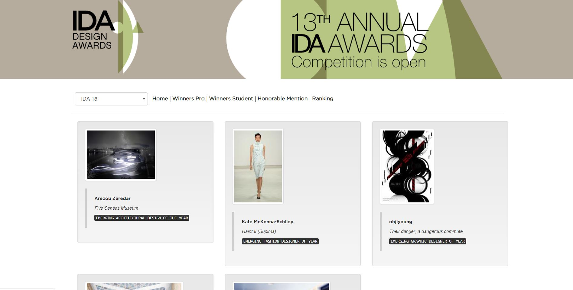 IDA Award Gold Winner - 2015, USA