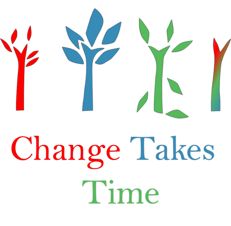 Organizations are the vehicle for change. It takes 3-5 years for change to complete. -