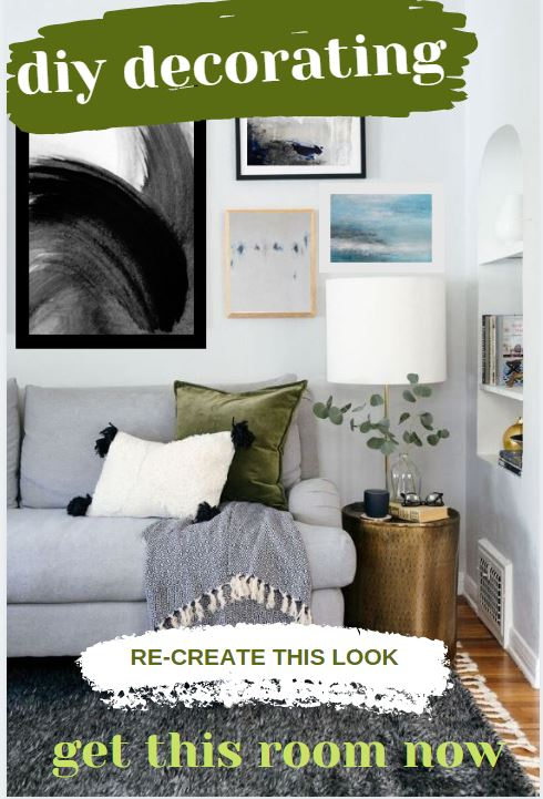 ONE WHOLE LOOK - COOL MODERN GREY, GREEN, BLUE, BLACKGALLERY WALL PRINTSGET THE LOOK