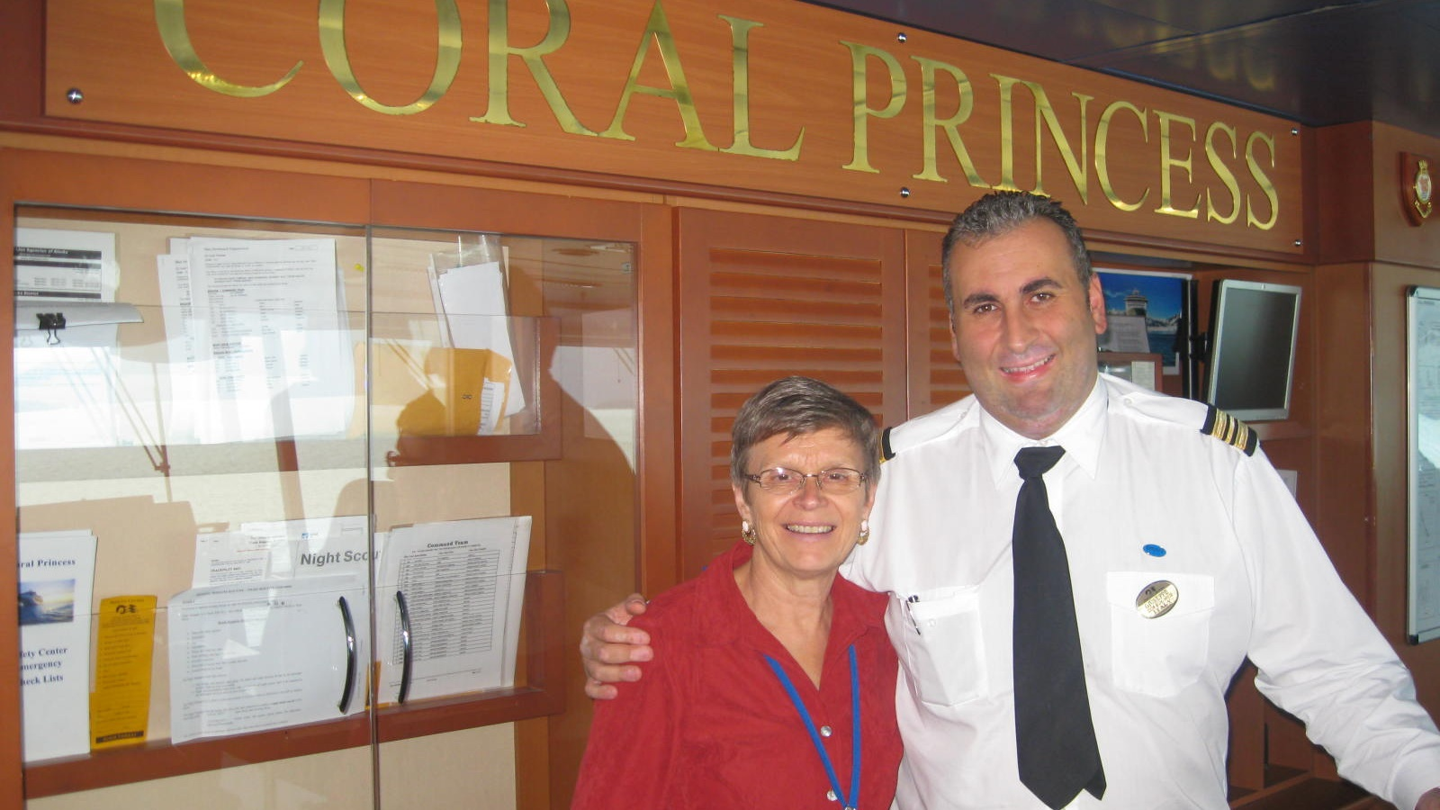 Jeanette meets with the captain of the Coral Princess.