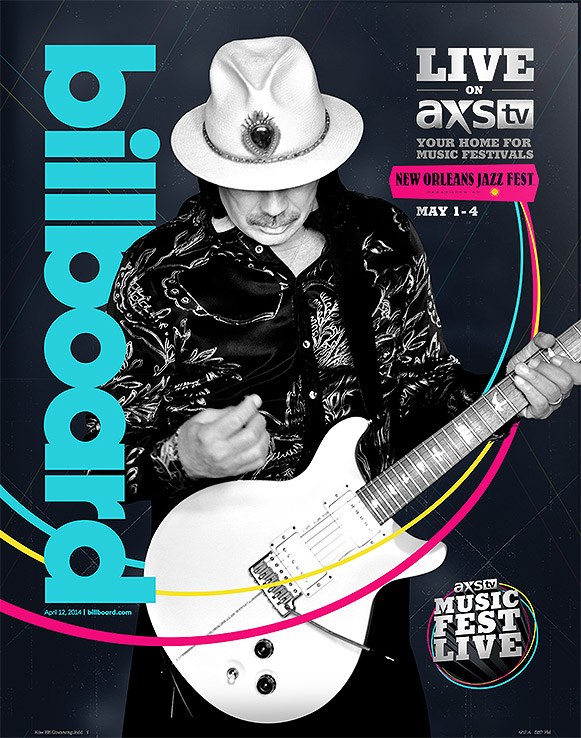 BILLBOARD COVER - Highlighting AXS TV's broadcast of New Orleans Jazz Fest.
