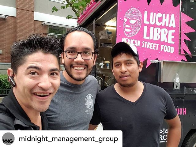 @midnight_management_group Come visit us in #chinatown today.. we are right across the street from our brothers @luchalibretruck!!! @originalsmexicano @mercado_by_originals