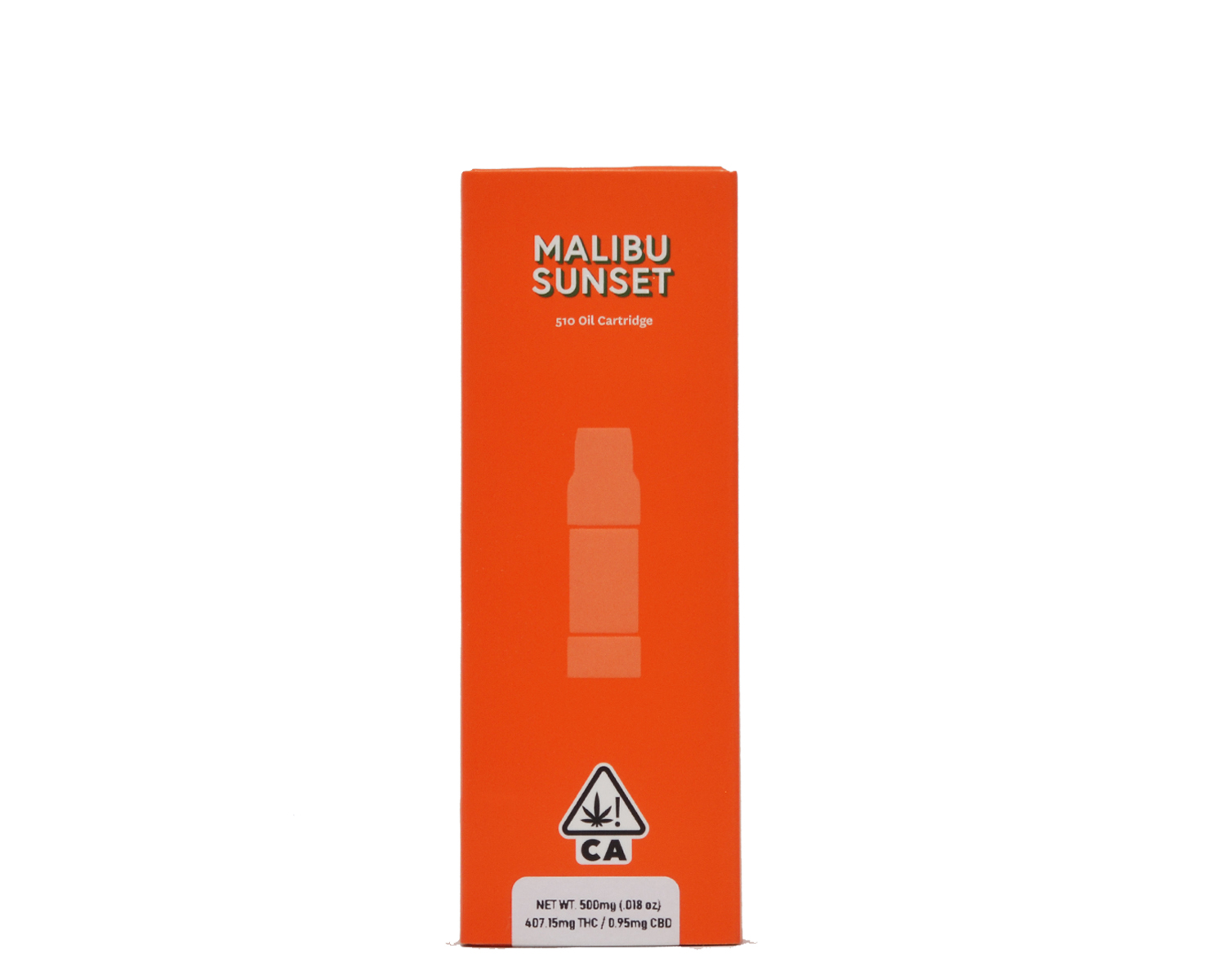 Sherbinskis Malibu Sunset Sauce Cartridge 1g  81.43% THC .19% CBD  This indica-leaning strain's fragrant earthy aroma makes for a full sensory experience. The harmonious wave of pineapple and coconut makes for a perfect nightcap. Its dreamy smoke carries you towards a more tranquil state of mind and relieves sleeplessness and what ails you. 500mg