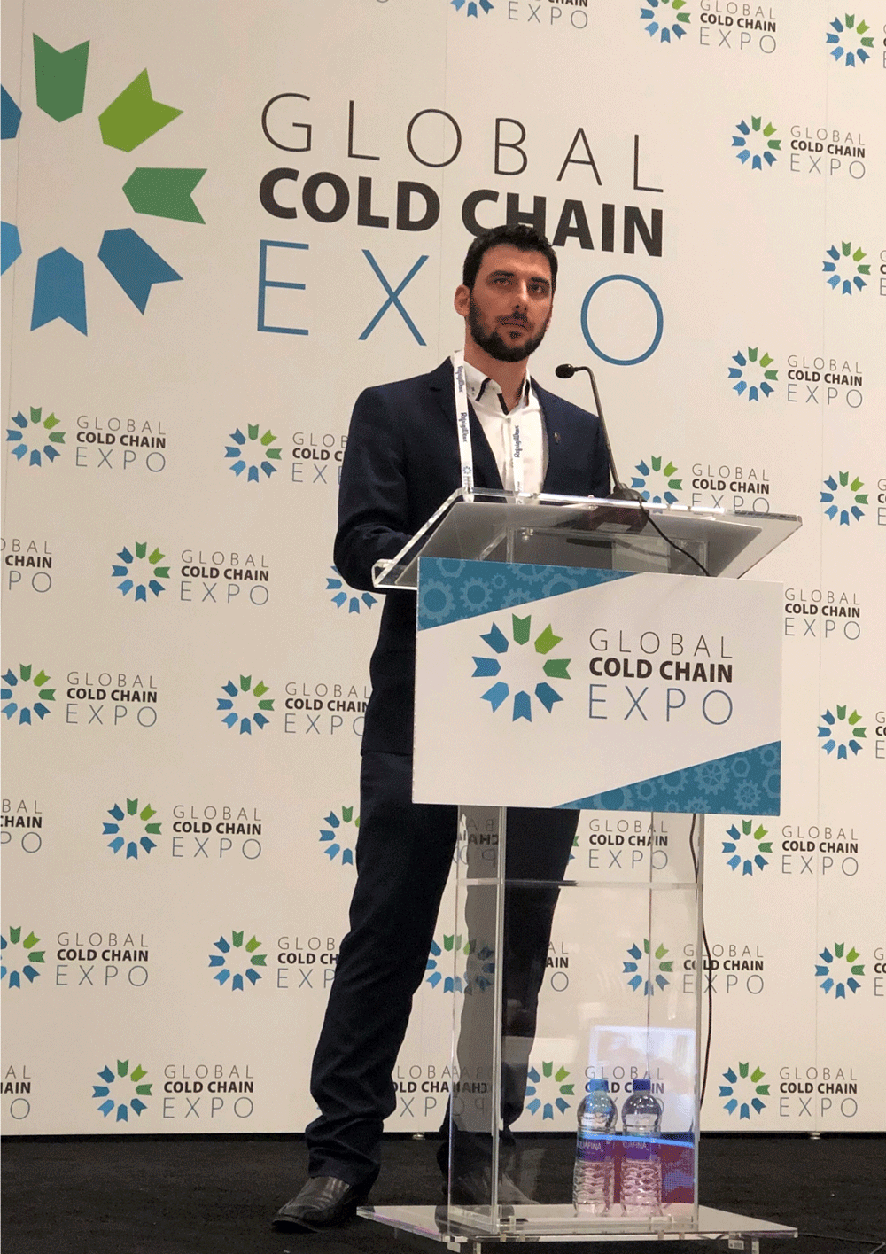Anthony Crowhurst, the winner of the RWTA Frank Vale (2018) Award at the Global Cold Chain Expo in Chicago in 2018.