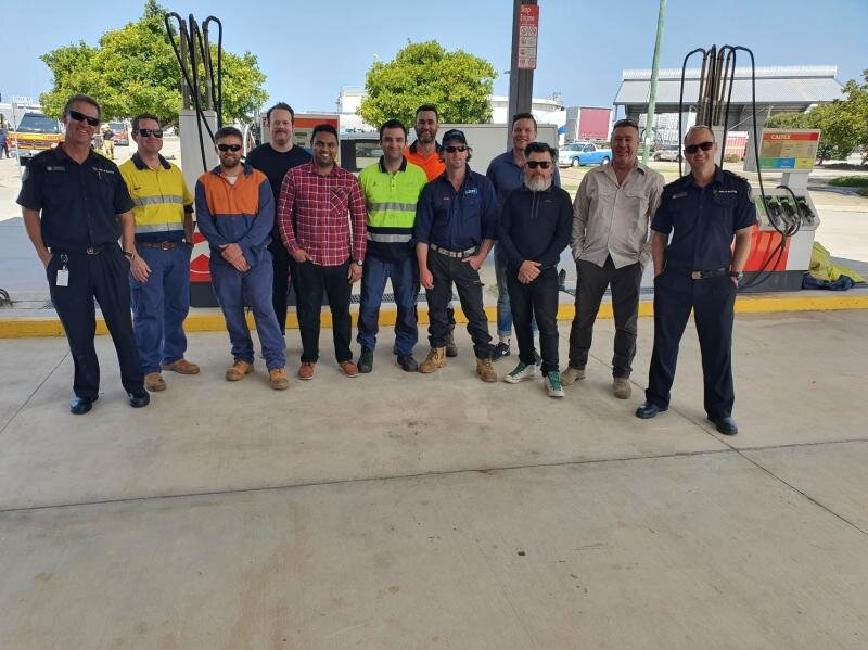 Attendees for the final 2019 RWTA Ammonia Emergency Management Training course from Australia and NZ completing the training for safety and correct procedures in an emergency situation.