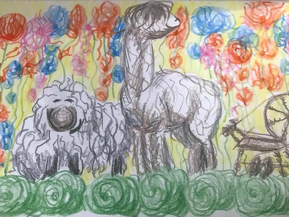 The Yarn Garden - This doodle led us to the Yarn Garden!