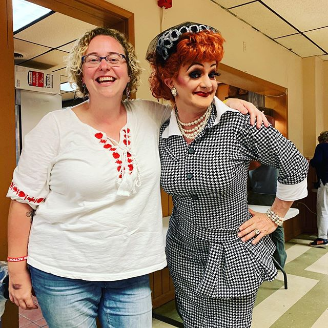 Having such a blast supporting Crescent Township's Fire Dept. and talking with voters at the Drag Queens of Bingo fundraiser. Unfortunately my new friend Lucille Ball isn't one of my constituents😩