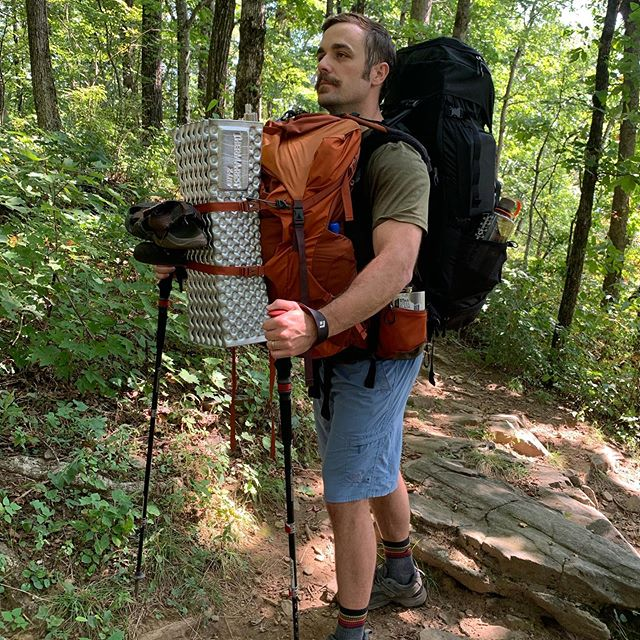 Today, I want to honor three brothers and friends.  This is Jeff (trail name: Stache). He is one of three friends of mine (also, Jonathan and Drew) who carried my pack on a recent hike when neurological symptoms made it hard for me to walk. They were happy to do it and they didn't treat me like the weak guy (even though I was!). This is the beauty of human friendship redeemed by Jesus.