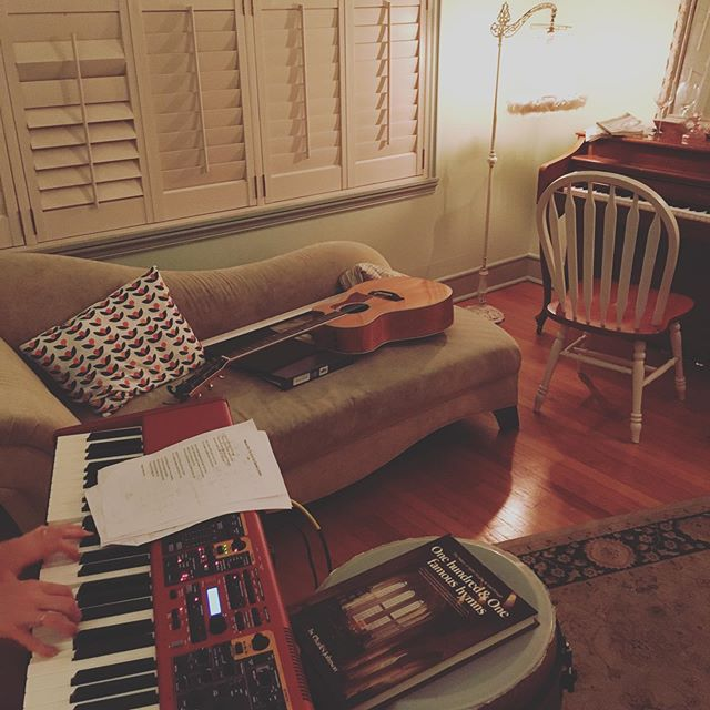 Late night sitting room Kickstarter incentive cover song recording. Ellie Holcomb, Jason Isbell, Lauren Daigle, and more... what fun!